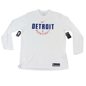 New Nike NBA Detroit Pistons Team Issued Shirt